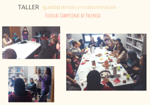 collage taller Saldaña no discriminacion